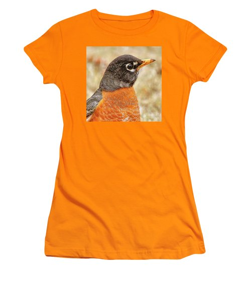 Women's T-Shirt (Athletic Fit) featuring the photograph Robin by Debbie Stahre