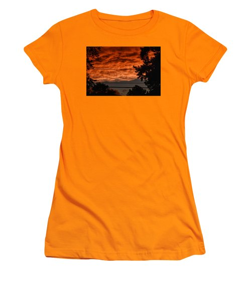 Women's T-Shirt (Junior Cut) featuring the photograph Rolling Skies by Nikki McInnes