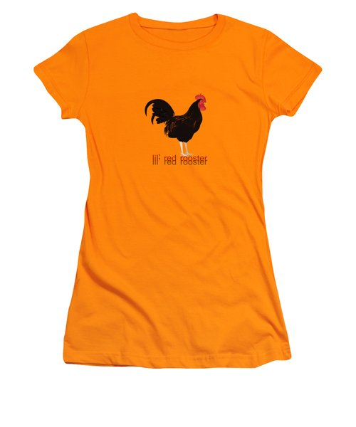 Rooster Women's T-Shirt (Junior Cut) by Valerie Anne Kelly