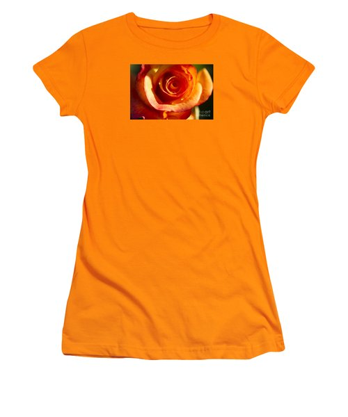 Women's T-Shirt (Junior Cut) featuring the photograph Rose Glow by Jeanette French