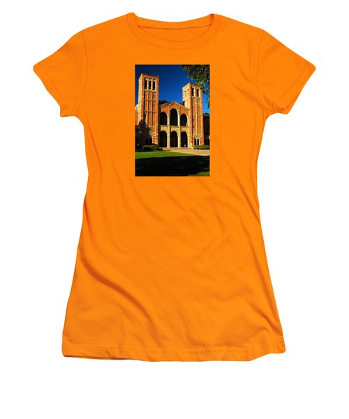 Women's T-Shirt (Junior Cut) featuring the photograph Royce Hall Ucla by James Kirkikis