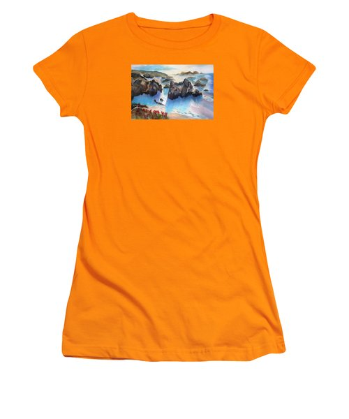 Marin Lovers Coastline Women's T-Shirt (Athletic Fit)