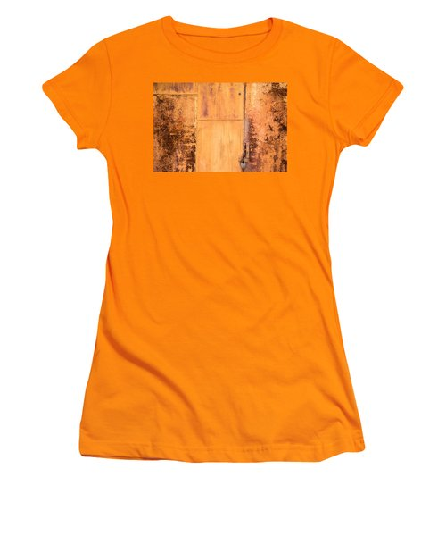 Women's T-Shirt (Junior Cut) featuring the photograph Rust On Metal Texture by John Williams