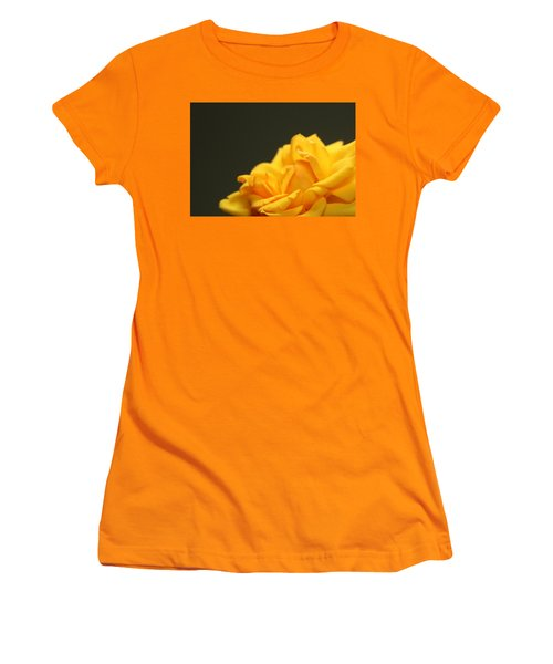 Women's T-Shirt (Junior Cut) featuring the painting Saffron Mini Rose by Marna Edwards Flavell