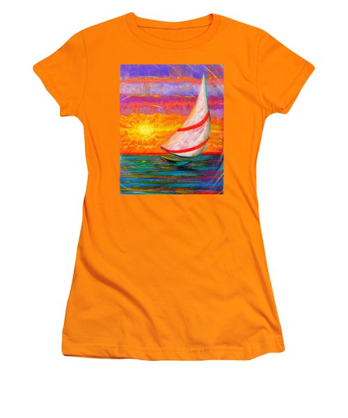 Sailaway Women's T-Shirt (Junior Cut) by Jeanette Jarmon