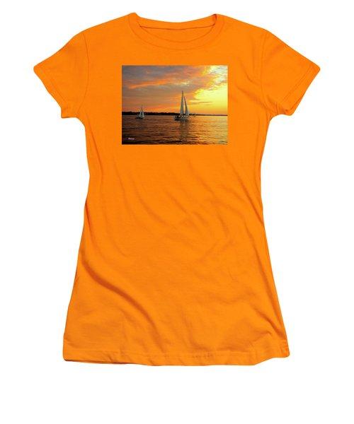 Sailboat Parade Women's T-Shirt (Athletic Fit)