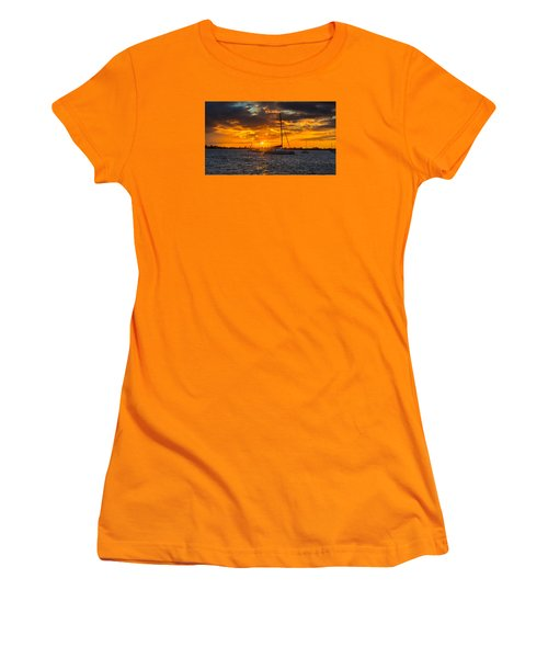 Sailor Sunset Women's T-Shirt (Junior Cut) by Kevin Cable