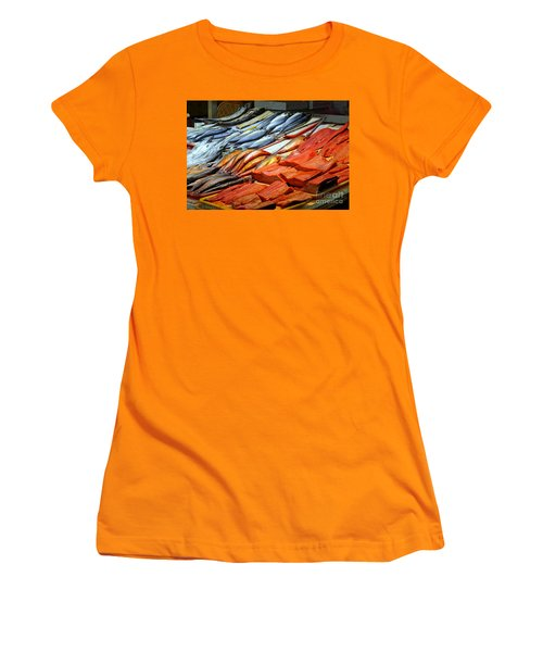 Women's T-Shirt (Athletic Fit) featuring the photograph Salted And Preserved Fish by Yali Shi
