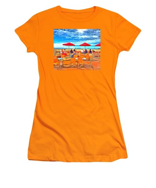 San Francisco Skyline From Alameda  Women's T-Shirt (Junior Cut) by Linda Weinstock