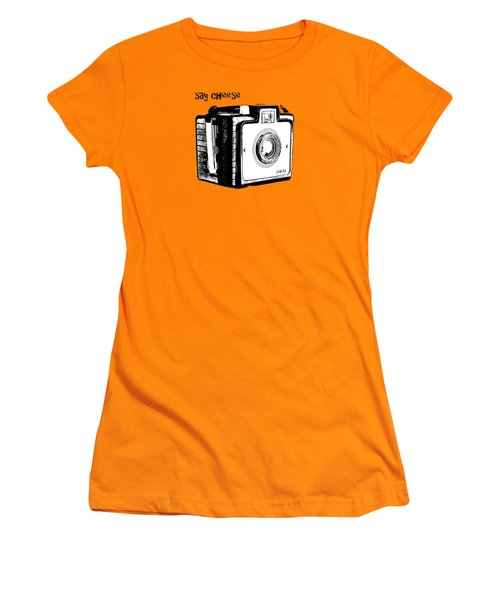Say Cheese Old Camera T-shirt Women's T-Shirt (Athletic Fit)