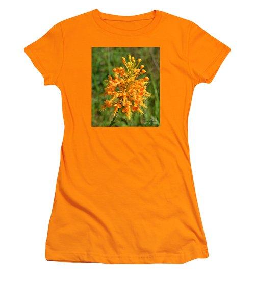 Women's T-Shirt (Junior Cut) featuring the photograph School Bus Yellow by Lew Davis
