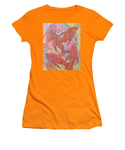 Women's T-Shirt (Athletic Fit) featuring the painting Schooled by Michele Myers
