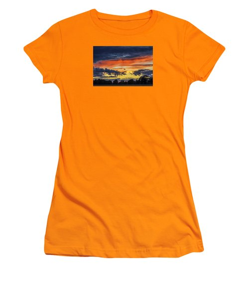 Women's T-Shirt (Junior Cut) featuring the photograph Scottish Sunset by Jeremy Lavender Photography