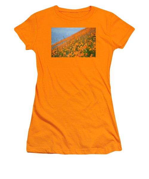 Sea Of Poppies Women's T-Shirt (Junior Cut) by Kyle Hanson