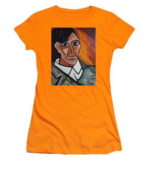 Self Portrait Of Picasso Women's T-Shirt (Junior Cut) by Nora Shepley