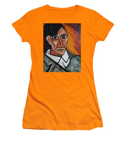 Self Portrait Of Picasso Women's T-Shirt (Athletic Fit)