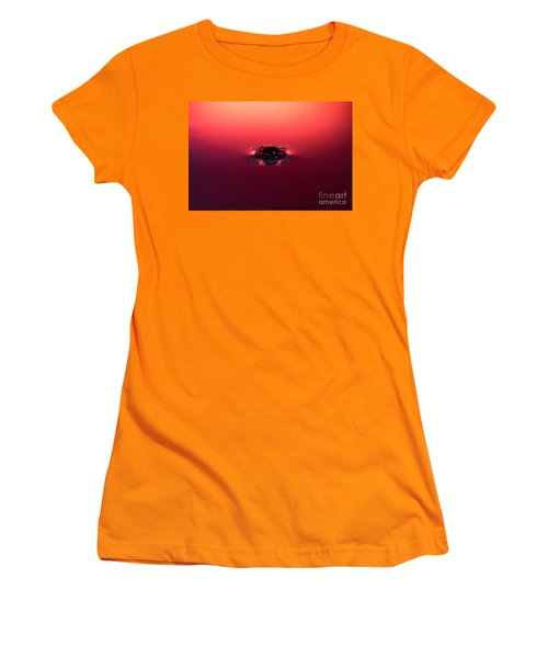 Semi Submerged Droplet Women's T-Shirt (Athletic Fit)