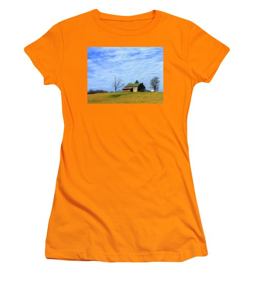 Serenity Barn And Blue Skies Women's T-Shirt (Athletic Fit)