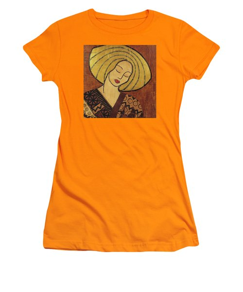 Women's T-Shirt (Junior Cut) featuring the mixed media Serenity by Gloria Rothrock