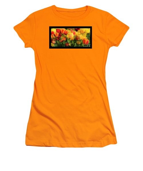 Women's T-Shirt (Athletic Fit) featuring the photograph Seriously Spring - Bordered by Wendy Wilton