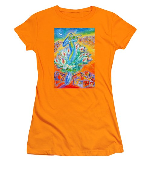 Shabbat Shalom Women's T-Shirt (Athletic Fit)