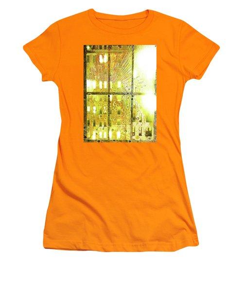 Women's T-Shirt (Junior Cut) featuring the mixed media Shine A Light by Tony Rubino