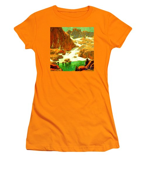 Sierra Landscape Circa 1920 Women's T-Shirt (Athletic Fit)