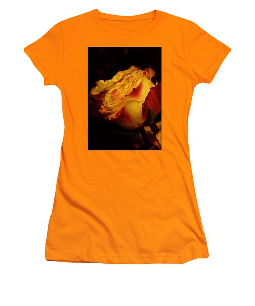Women's T-Shirt (Junior Cut) featuring the photograph Single March Vintage Rose by Richard Cummings
