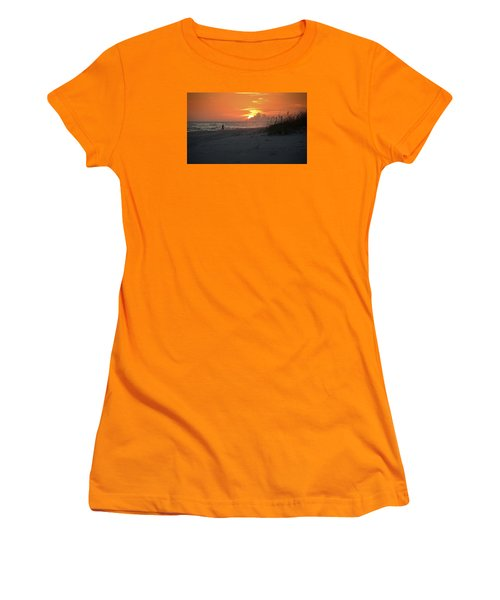 Women's T-Shirt (Junior Cut) featuring the photograph Sinking Into The Horizon by Renee Hardison