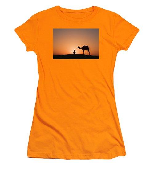 Skn 0893 The Halo Of Sunrise Women's T-Shirt (Junior Cut) by Sunil Kapadia