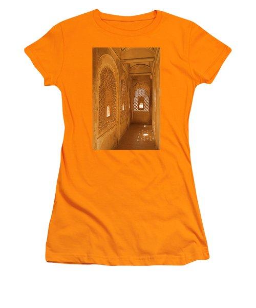 Skn 1241 Carved Niche Women's T-Shirt (Junior Cut) by Sunil Kapadia