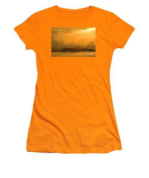 Women's T-Shirt (Junior Cut) featuring the photograph sland in the Mist - D009994 by Daniel Dempster