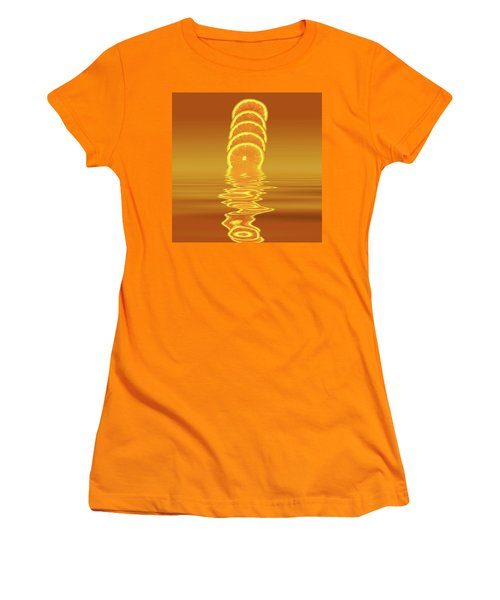 Slices Orange Citrus Fruit Women's T-Shirt (Junior Cut) by David French