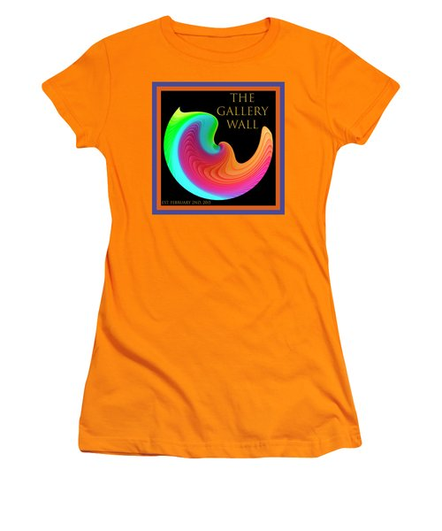 Women's T-Shirt (Athletic Fit) featuring the photograph Slinky Dove Of Peace-the Gallery Wall Logo by Wendy Wilton
