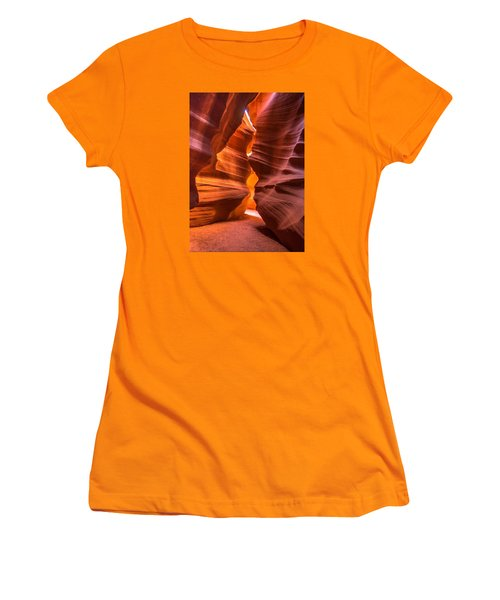 Women's T-Shirt (Junior Cut) featuring the photograph Slot Canyon by Jerry Cahill