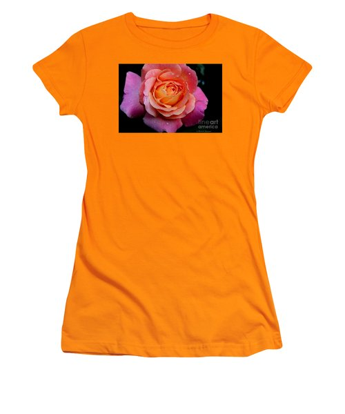 Smell The Rose Women's T-Shirt (Athletic Fit)