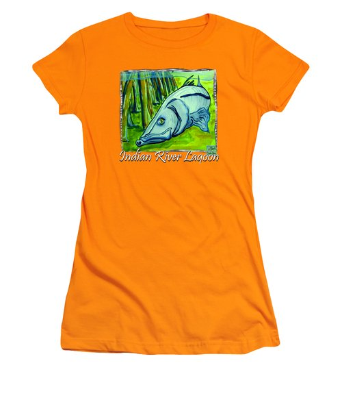 Snook Fish Women's T-Shirt (Junior Cut) by W Gilroy
