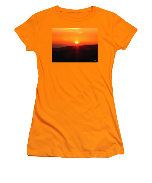 Snow Camp View 2 Women's T-Shirt (Junior Cut) by Leland D Howard