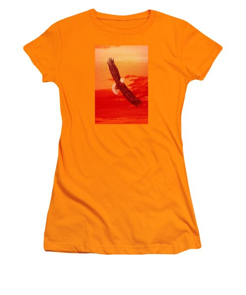 Women's T-Shirt (Junior Cut) featuring the painting Soaring by Katherine Young-Beck