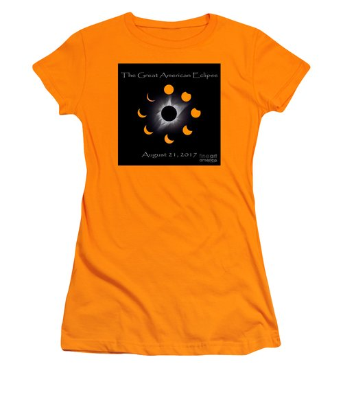 Solar Eclipse Stages Women's T-Shirt (Athletic Fit)