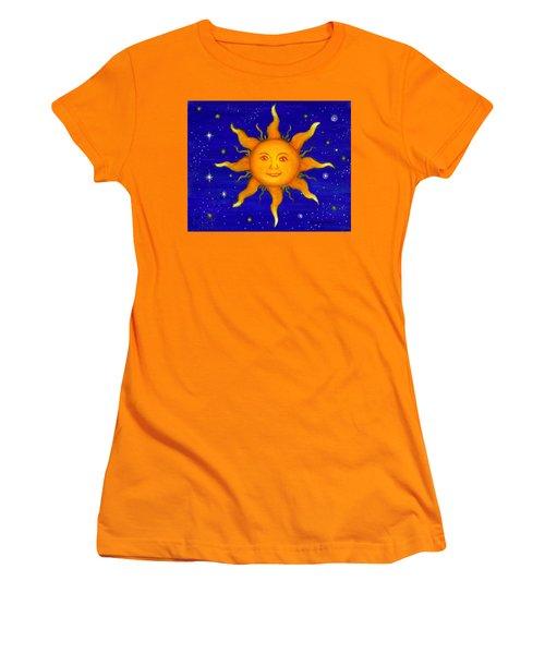 Women's T-Shirt (Junior Cut) featuring the painting Soleil by Sandra Estes
