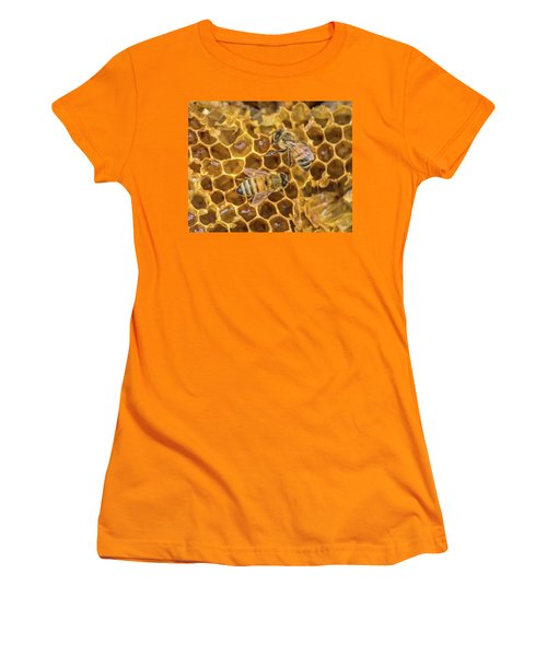Women's T-Shirt (Athletic Fit) featuring the photograph Some Of Your Beeswax by Bill Pevlor