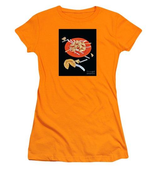 Misfortune Cookies Women's T-Shirt (Junior Cut) by Joe Jake Pratt