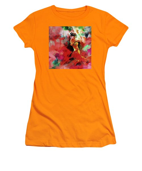 Women's T-Shirt (Junior Cut) featuring the painting Spanish Dance by Gull G