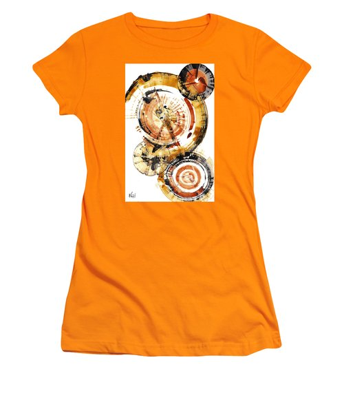 Women's T-Shirt (Athletic Fit) featuring the painting Sphere Series 1020.050112 by Kris Haas