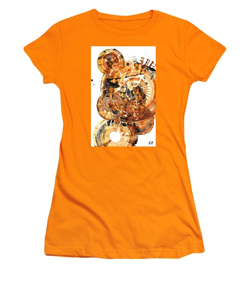 Women's T-Shirt (Athletic Fit) featuring the painting Sphere Series 1021.050212 by Kris Haas