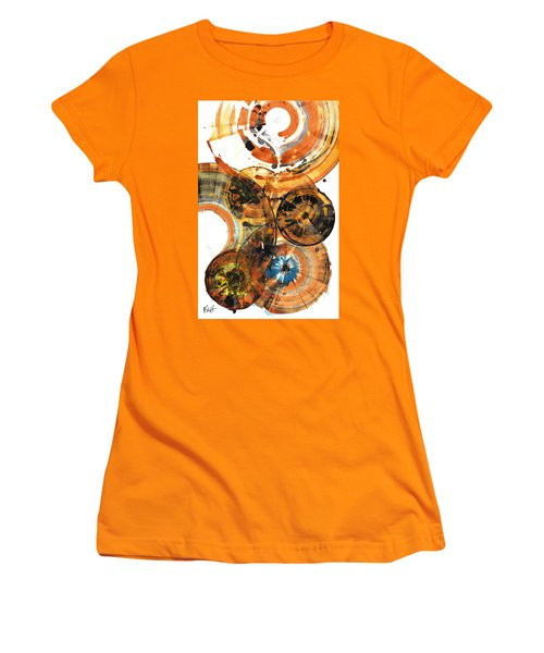 Women's T-Shirt (Athletic Fit) featuring the painting Sphere Series 1024.050312 by Kris Haas