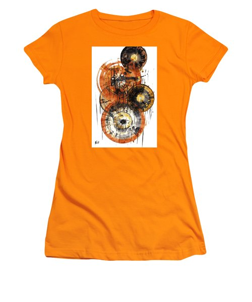 Women's T-Shirt (Athletic Fit) featuring the painting Sphere Series 1028.050412 by Kris Haas