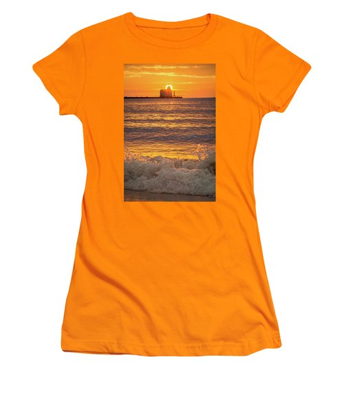 Women's T-Shirt (Junior Cut) featuring the photograph Splash Of Light by Bill Pevlor