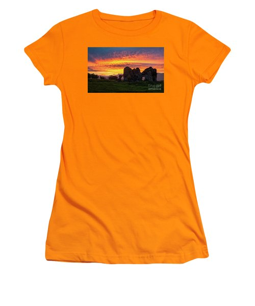 Splendid Ruins Of Tormak Church During Gorgeous Sunset, Armenia Women's T-Shirt (Athletic Fit)